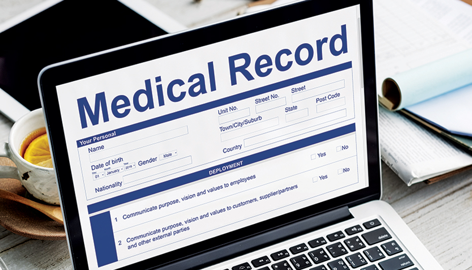 Electronic medical health record.