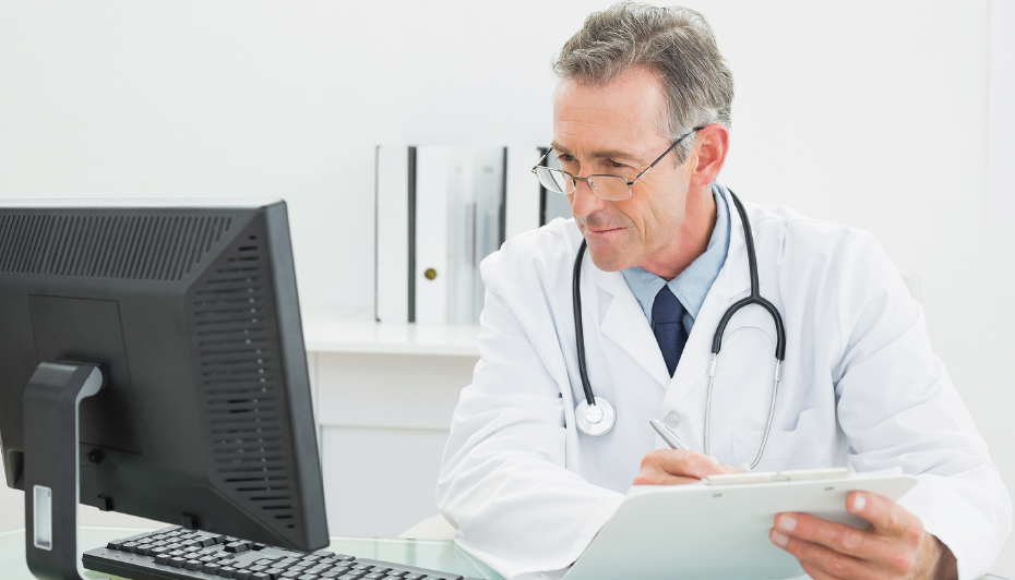 Doctor looking at CBR