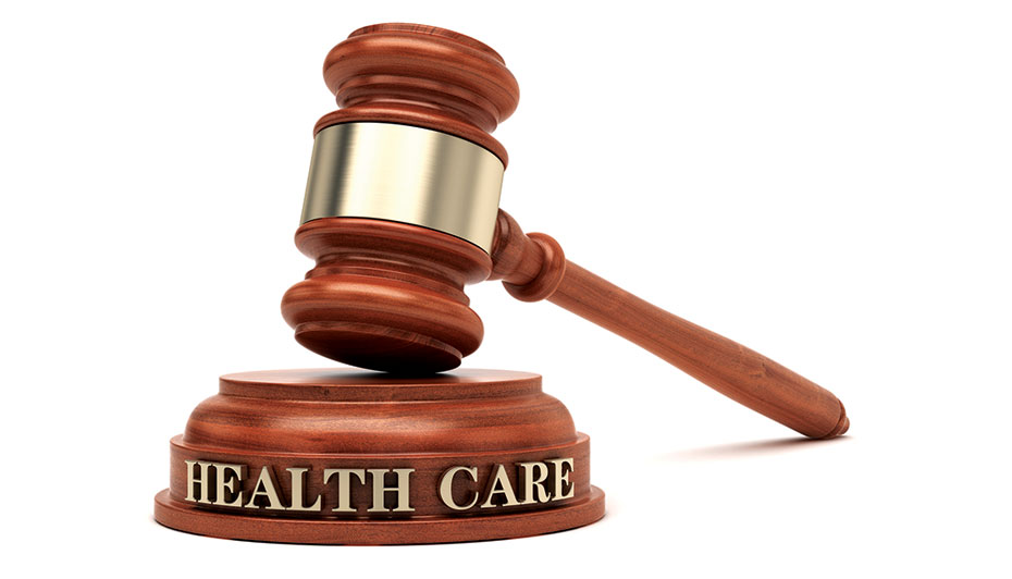Health care written on gavel block