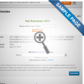 Medicare Fee Schedules Lookup Tool